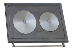 Чугунные двухконфорочные плиты